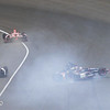 May 26: J.R. Hildebrand crash during the 97th running of the Indianapolis 500 mile race.