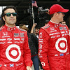 May 26: Dario Franchitti and Scott Dixon during the 97th running of the Indianapolis 500 mile race.