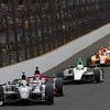 May 26: Tony Kanaan leads during the 97th running of the Indianapolis 500 mile race.