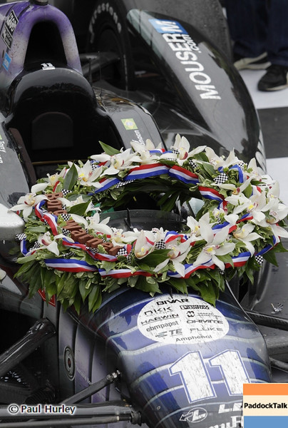 May 26: Victory wreath during the 97th running of the Indianapolis 500 mile race.