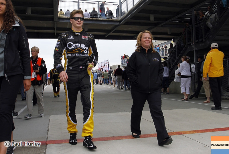 May 26: Josef Newgarden and Sarah Fisher during the 97th running of the Indianapolis 500 mile race.