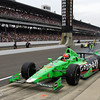 May 26: James Hinchcliffe during the 97th running of the Indianapolis 500 mile race.