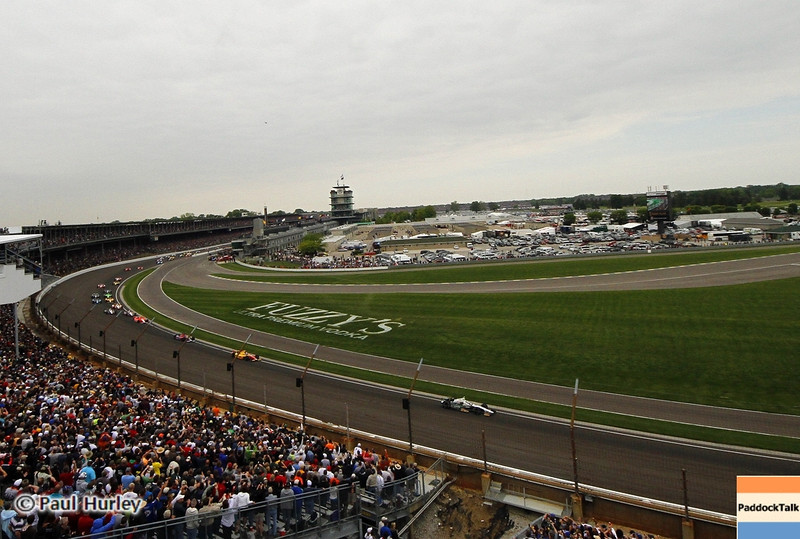 May 26: Turn 1 start during the 97th running of the Indianapolis 500 mile race.