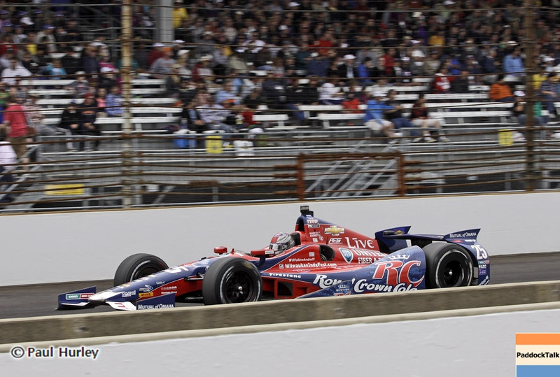 May 26: Marco Andretti during the 97th running of the Indianapolis 500 mile race.