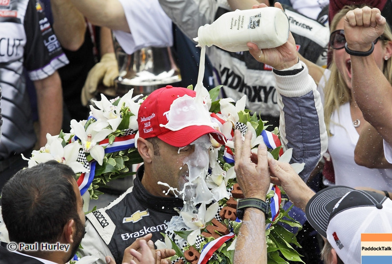 May 26: dTony Kanaan uring the 97th running of the Indianapolis 500 mile race.