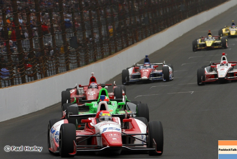 May 26: Justin Wilson during the 97th running of the Indianapolis 500 mile race.