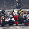 May 26:  Conor Dailey pit stop during the 97th running of the Indianapolis 500 mile race.