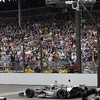May 26: White flag during the 97th running of the Indianapolis 500 mile race.