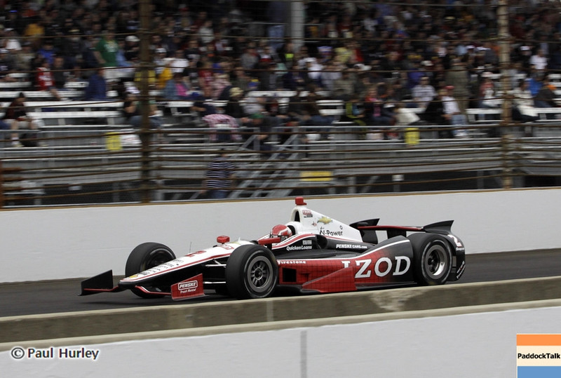May 26: A.J. Allmendinger during the 97th running of the Indianapolis 500 mile race.