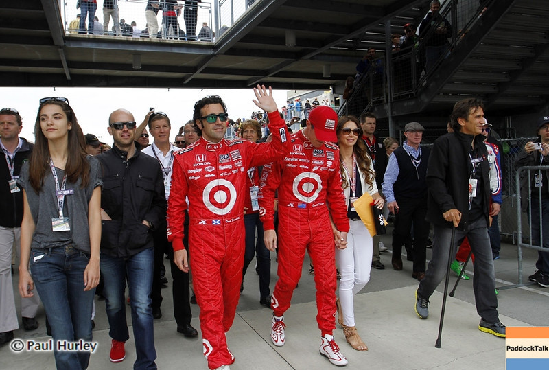 May 26: Dario Franchitt and Scott Dixon during the 97th running of the Indianapolis 500 mile race.