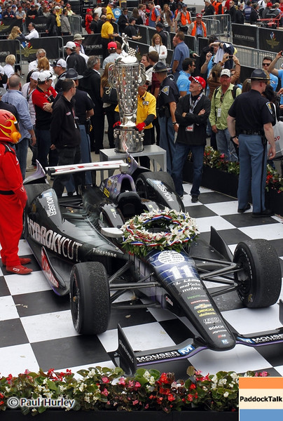 May 26: Winning car during the 97th running of the Indianapolis 500 mile race.