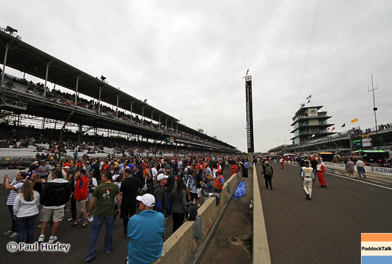 May 26: Pit lane during the 97th running of the Indianapolis 500 mile race.