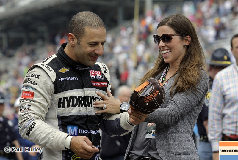 May 26: Tony and Lauren Kanaan during the 97th running of the Indianapolis 500 mile race.