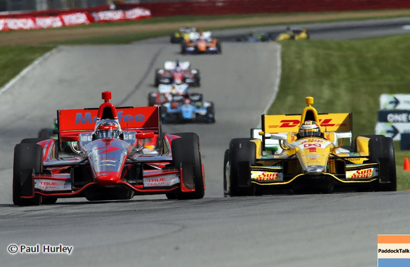 August 4: Key hole action during the Honda Indy 200 at Mid-Ohio