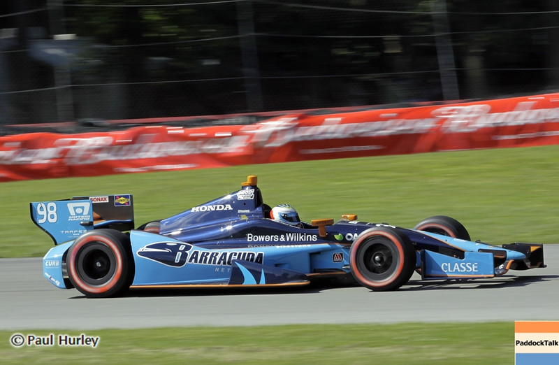 August 4: Luca Filippi during the Honda Indy 200 at Mid-Ohio