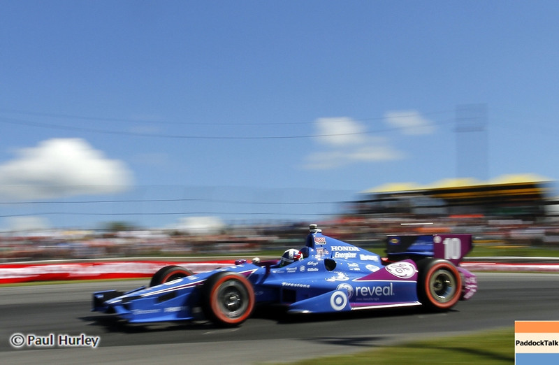 August 4: Dario Franchitti during the Honda Indy 200 at Mid-Ohio
