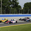 June 15: Third turn action during the Izod IndyCar series race at the Milwaukee Mile.