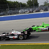 June 15: Will Power and James Hinchcliffe during the Izod IndyCar series race at the Milwaukee Mile.