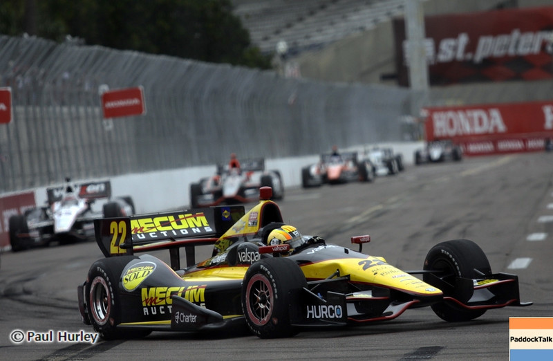 March 24: Oriol Servia during the Honda Grand Prix of St. Petersburg IndyCar race.