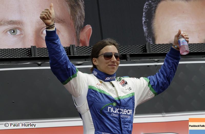 March 24: Simona de Silvestro during the Honda Grand Prix of St. Petersburg IndyCar race.