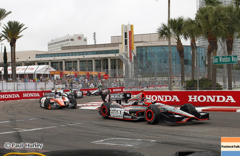 March 24: J.R. Hildebrand during the Honda Grand Prix of St. Petersburg IndyCar race.