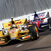 March 22: Ryan Hunter-Reay and Takuma Sato at IndyCar practice at the Honda Grand Prix of St. Petersburg.