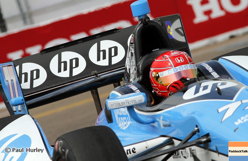 March 22: Simon Pagenaud at IndyCar practice at the Honda Grand Prix of St. Petersburg.