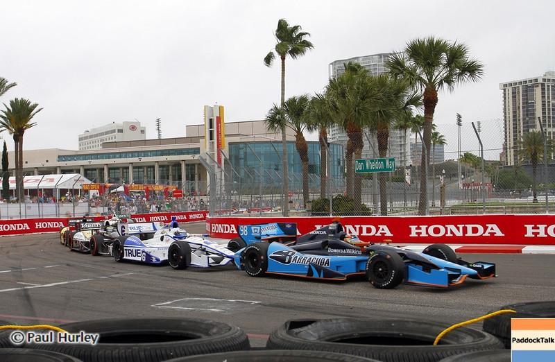 March 24: Alex Tagliani during the Honda Grand Prix of St. Petersburg IndyCar race.