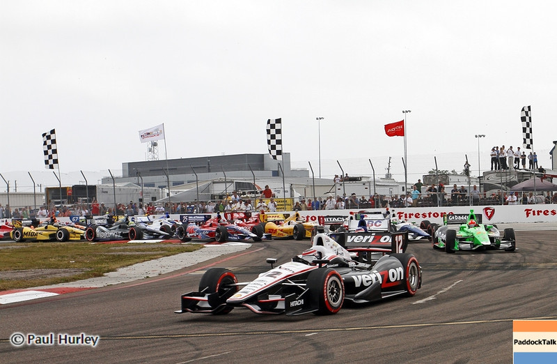 March 24: Opening laps during the Honda Grand Prix of St. Petersburg IndyCar race.