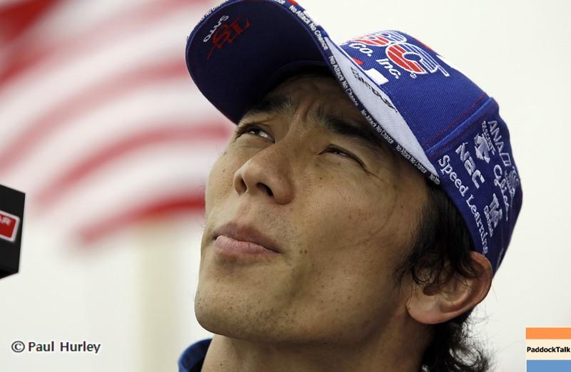 March 23: Takuma Sato during IndyCar qualifying at the Honda Grand Prix of St. Petersburg.