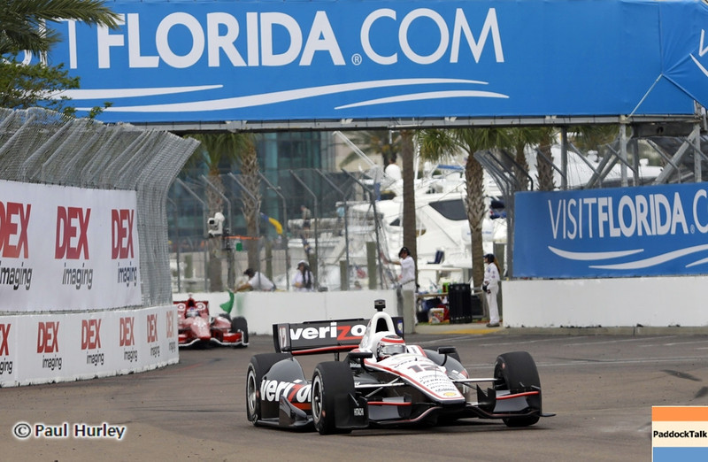 March 23: Will Power during IndyCar qualifying at the Honda Grand Prix of St. Petersburg.