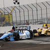 March 24: Simon Pagenaud and Ryan Hunter Reay during the Honda Grand Prix of St. Petersburg IndyCar race.