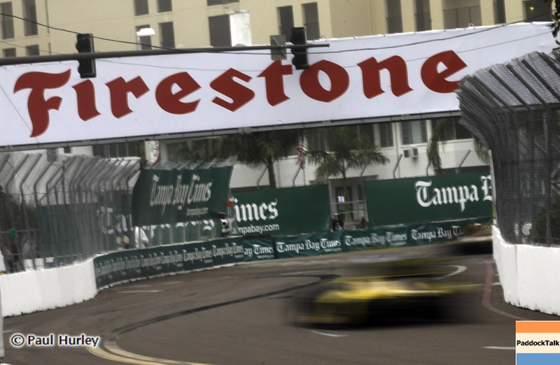 March 24: Firestone bridge during the Honda Grand Prix of St. Petersburg IndyCar race.
