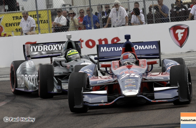 March 24: Marco Andretti and Tony Kanaan during the Honda Grand Prix of St. Petersburg IndyCar race.
