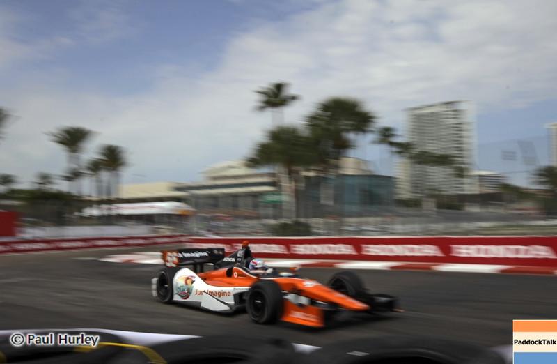 March 22: Tristen Vautier at IndyCar practice at the Honda Grand Prix of St. Petersburg.
