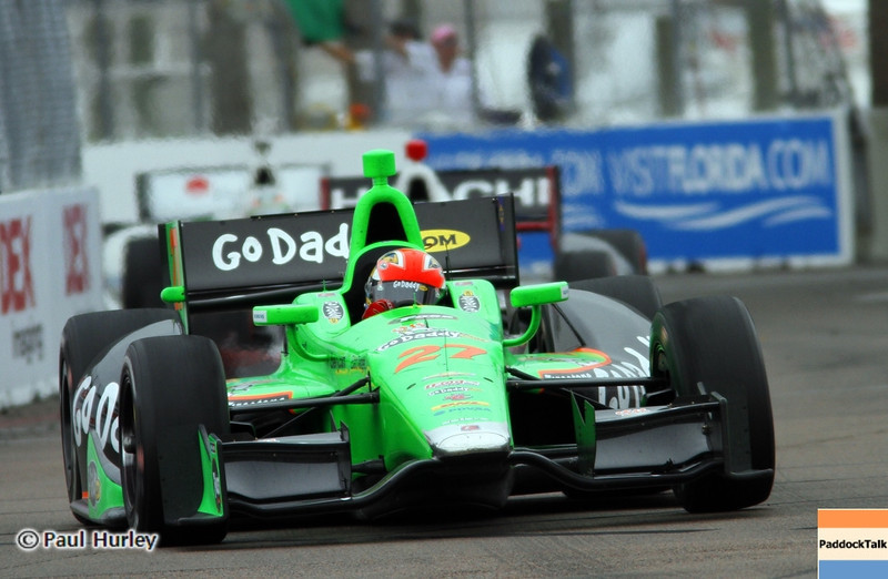 March 24: James Hinchcliffe winner during the Honda Grand Prix of St. Petersburg IndyCar race.