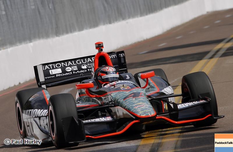 March 22: J.R. Hildebrand at IndyCar practice at the Honda Grand Prix of St. Petersburg.