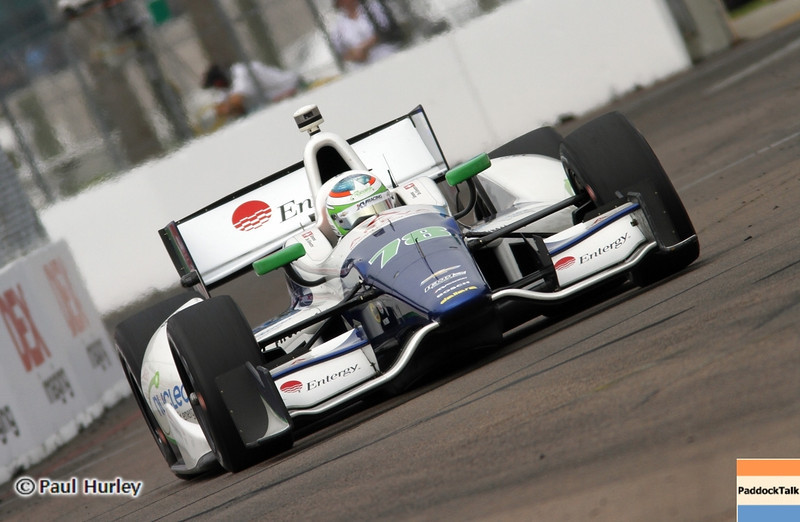 March 23: Somona de Silvestro during IndyCar qualifying at the Honda Grand Prix of St. Petersburg.