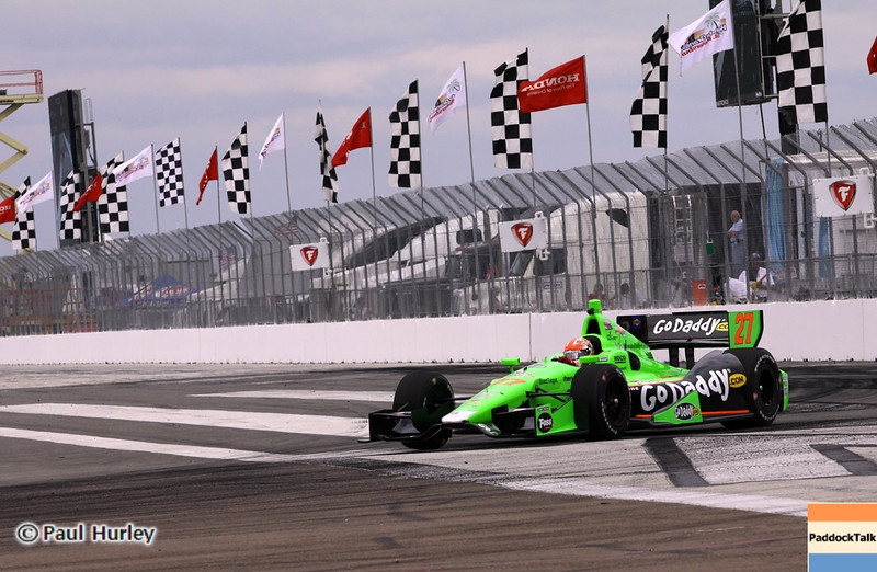 March 22: James Hinchcliffe at IndyCar practice at the Honda Grand Prix of St. Petersburg.