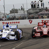 March 24: Sabastian Saavedra and Dario Franchitti during the Honda Grand Prix of St. Petersburg IndyCar race.