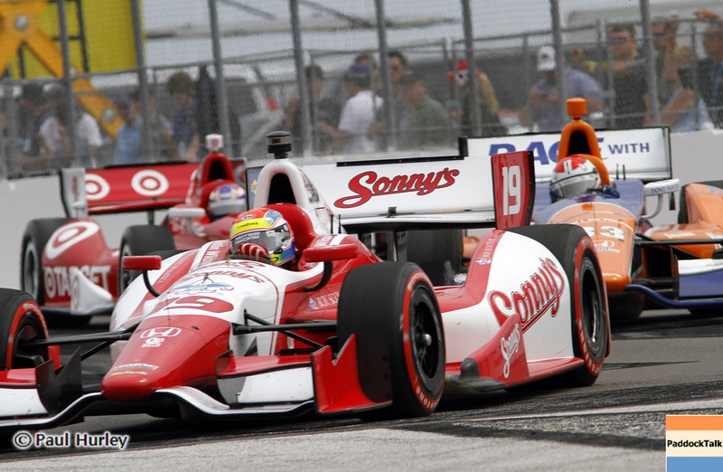 March 24: Justin Wilson during the Honda Grand Prix of St. Petersburg IndyCar race.