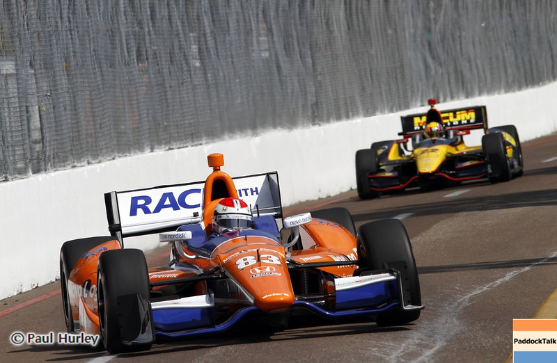 March 22: Charlei Kimball at IndyCar practice at the Honda Grand Prix of St. Petersburg.