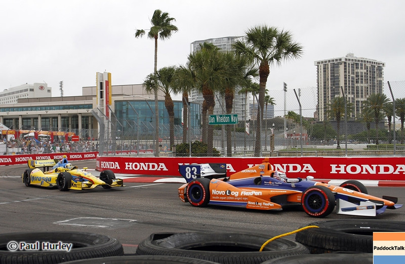 March 24: Charlie Kimball during the Honda Grand Prix of St. Petersburg IndyCar race.