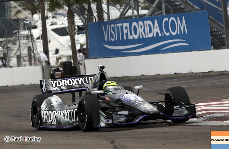 March 23: Tony Kanaan during IndyCar qualifying at the Honda Grand Prix of St. Petersburg.
