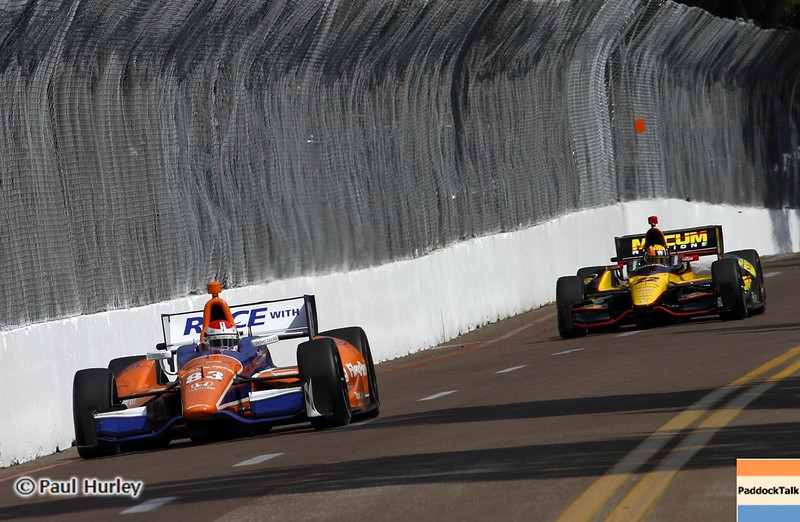 March 22: Charlie Kimball at IndyCar practice at the Honda Grand Prix of St. Petersburg.