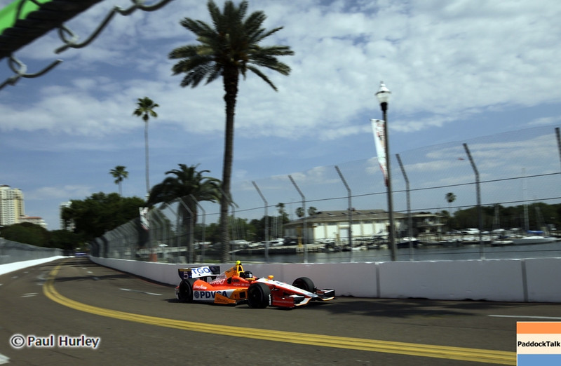 March 22: E. J. Viso at IndyCar practice at the Honda Grand Prix of St. Petersburg.