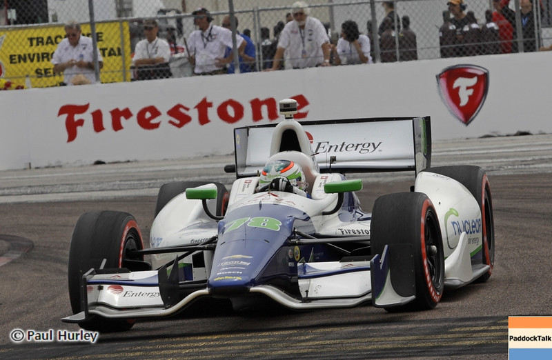 March 24: Simona de Silvestro during the Honda Grand Prix of St. Petersburg IndyCar race.
