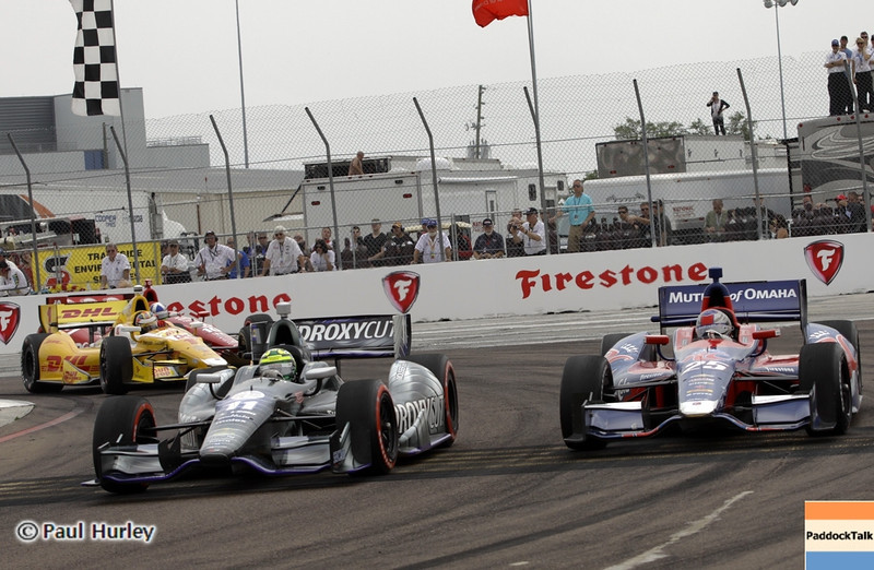 March 24: Tony Kanaan and Marco Andretti during the Honda Grand Prix of St. Petersburg IndyCar race.