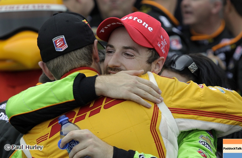 March 24: James Hinchcliffe and Ryab Hunter-Reay during the Honda Grand Prix of St. Petersburg IndyCar race.