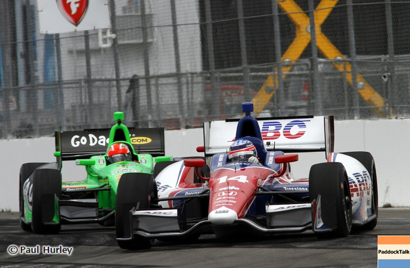 March 22: Takuma Sato, James Hinchcliffe at IndyCar practice at the Honda Grand Prix of St. Petersburg.
